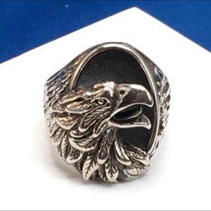 Rare VTG G & S 1987 Biker Ring Born Wild Eagle 11